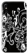 Coffee Flowers 7 Bw IPhone Case