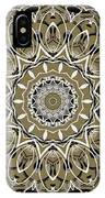 Coffee Flowers 7 Olive Ornate Medallion IPhone Case