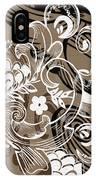 Coffee Flowers 8  IPhone Case