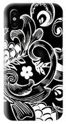 Coffee Flowers 8 Bw IPhone Case