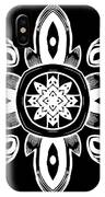 Coffee Flowers 8 Bw Ornate Medallion IPhone Case