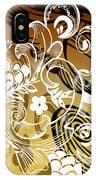 Coffee Flowers 8 Calypso IPhone Case