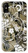 Coffee Flowers 8 Olive IPhone Case