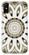 Coffee Flowers 8 Olive Ornate Medallion IPhone Case
