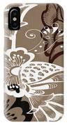Coffee Flowers 9 IPhone Case