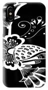 Coffee Flowers 9 Bw IPhone Case