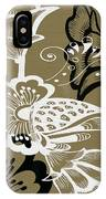 Coffee Flowers 9 Olive IPhone Case