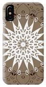 Coffee Flowers 9 Ornate Medallion IPhone Case