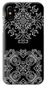 Coffee Flowers Ornate Medallions Bw 6 Peice Collage IPhone Case