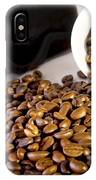 Coffee Pot Two Coffee Cup And  Coffee Beans IPhone Case