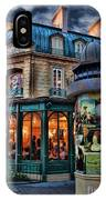 Coffeehouse - Belle Soiree Au Cafe IPhone Case