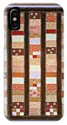 Coin Quilt -  Painting - Brown And White Patches IPhone Case