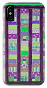 Coin Quilt - Quilt Painting - Purple And Green Patches IPhone Case