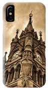 Colck Tower Stratford On Avon Sepia IPhone Case