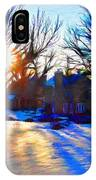 Cold Morning Sun IPhone Case