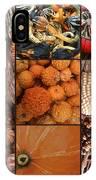 Collage - Corn - Pumpkins - Gourds - Elena Yakubovich IPhone Case