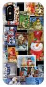 Collage Snowman Horz Photo Art IPhone Case
