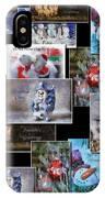 Collage Xmas Cards Horz Photo Art IPhone Case