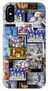 Collage Xmas Cards Vertical Photo Art IPhone Case