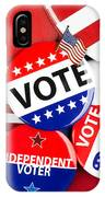 Collection Of Vote Badges IPhone Case