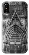 Cologne Cathedral 11 Bw IPhone Case