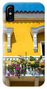 Colonial Balcony In Cartagena IPhone Case