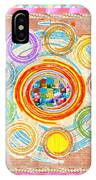 Color Circles Crystal Stones Borders Chakra Energy Healing IPhone Case