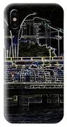 Color Pencil - Visitors On Viewing Plaza On Singapore River Next To The Merlion IPhone Case