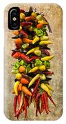 Color Peppers From Spain With Textured Background Dsc01467 IPhone Case