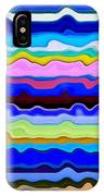 Color Waves No. 4 IPhone Case