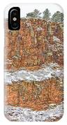 Colorado Red Sandstone Country Dusted With Snow IPhone Case