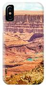 Colorado River One Mile Below And 18 Miles Across The Grand Canyon  IPhone Case