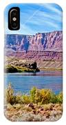 Colorado River Upstream From Boat Ramp At Lee's Ferry In Glen Canyon National Recreation Area-az IPhone Case