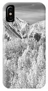 Colorado Rocky Mountain Autumn Beauty Bw IPhone Case