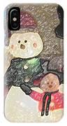 Colorado Snowman Family 1 12 2011 IPhone Case