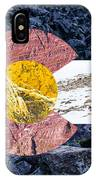 Colorado State Flag With Mountain Textures IPhone Case