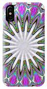 Colored Foil Lily Kaleidoscope Under Glass IPhone Case