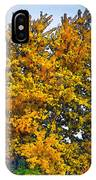 Colored Leaves On The Autumn Forest IPhone Case
