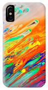 Colorful Abstract Acrylic Painting IPhone Case