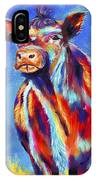 Colorful Angus Cow IPhone Case