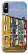 Colorful Apartment Buildings In Saint John's-nl IPhone Case