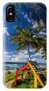 Colorful Bench On Caribbean Coast IPhone Case