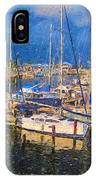 Colorful Boat Harbor Sailboats Shrimp Boats IPhone Case