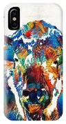 Colorful Buffalo Art - Sacred - By Sharon Cummings IPhone X Case