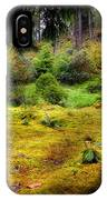 Colorful Carpet Of Moss In Benmore Botanical Garden IPhone Case