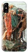Colorful Catch - Starfish In Fishing Nets IPhone Case