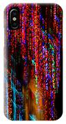 Colorful Christmas Streaks - Abstract Christmas Lights Series IPhone Case