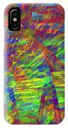 Colorful Computer Generated Abstract Fractal Flame IPhone Case