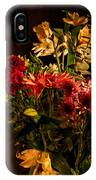 Colorful Cut Flowers In A Vase IPhone Case