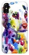 Colorful Dalmatian Puppy Dog Portrait Art IPhone X Case